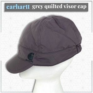 Carhartt Grey Quilted Hat with Visor
